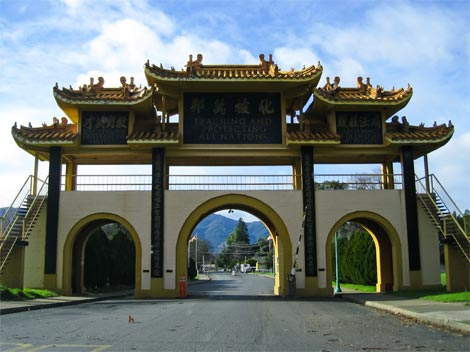Gate at City of 10,000 Buddhas